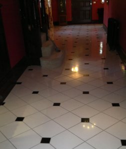 Polished Marble Tiled Floor After Restoration