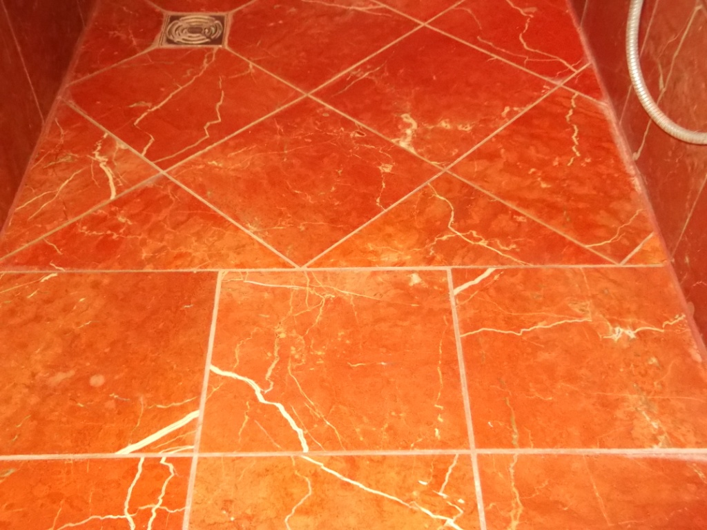 Marble Shower Cubicle After Cleaning