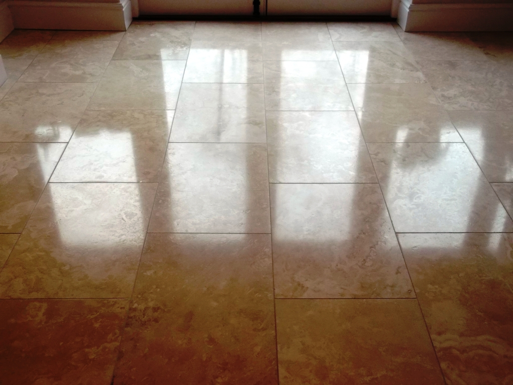 Travertine Tiled Floor After