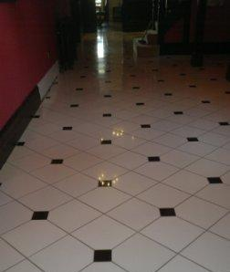 Ceramic Tiled Floor After Restoration