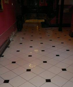 Ceramic Tiled Floor Before Restoration