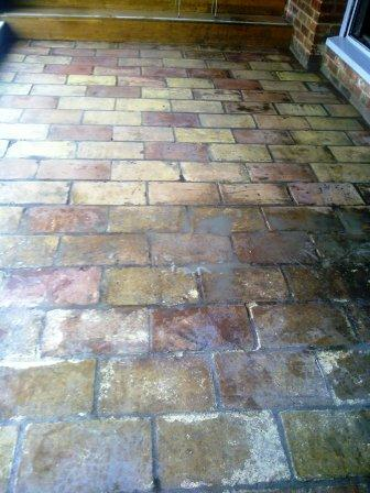 Pamment Tiles cleaned/uncleaned Mill Hotel Sudbury