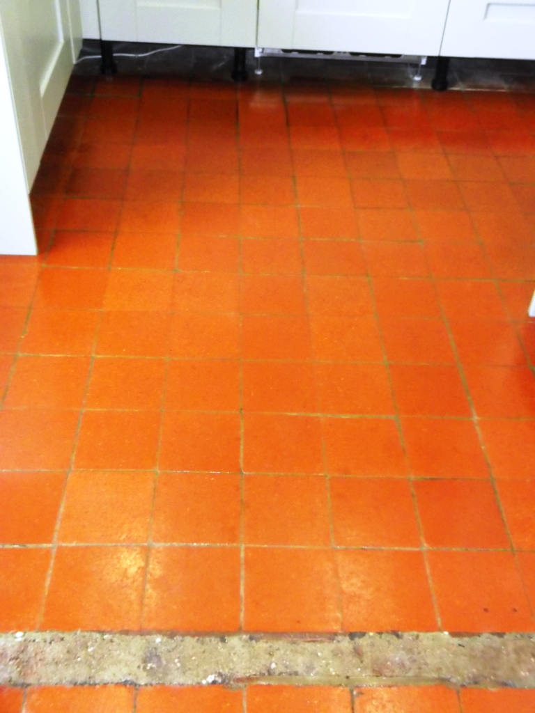 Quarry Tile Flooring After Cleaning