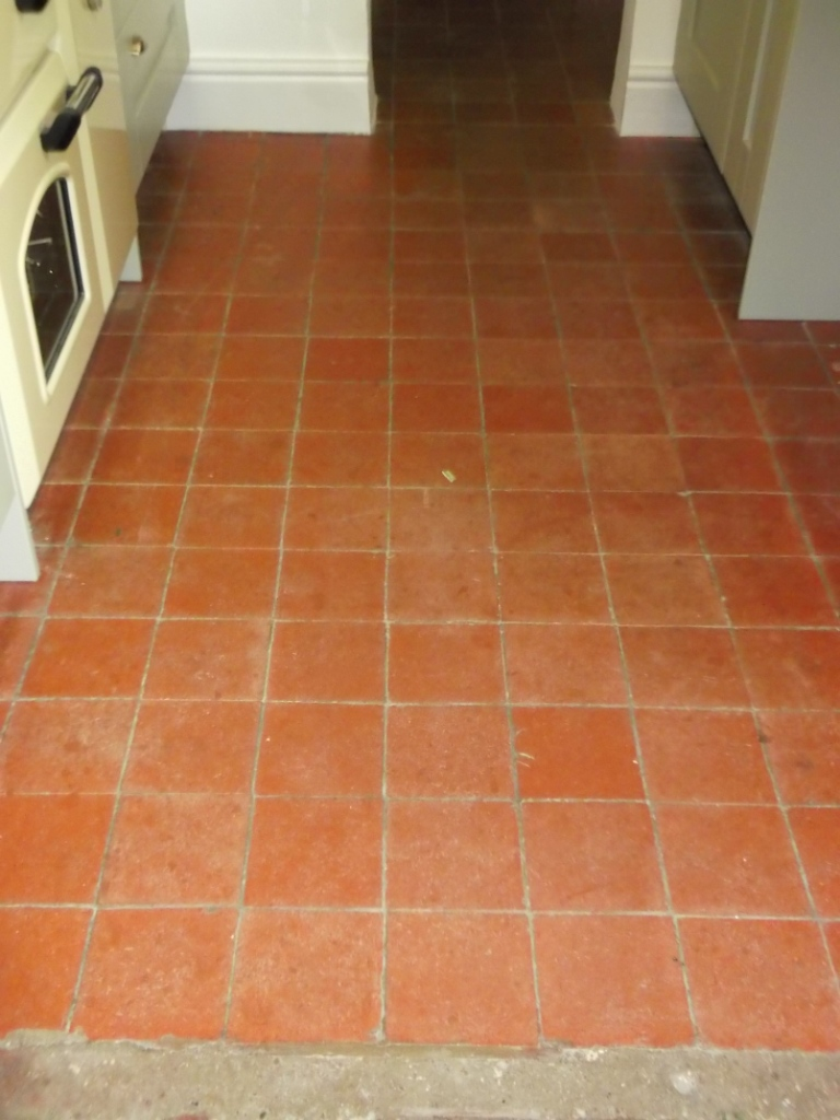 Quarry Tile Flooring Before Cleaning