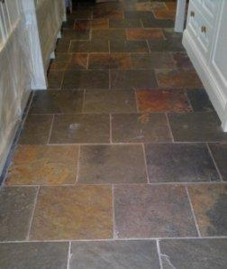 Slate Floor Before Restoration
