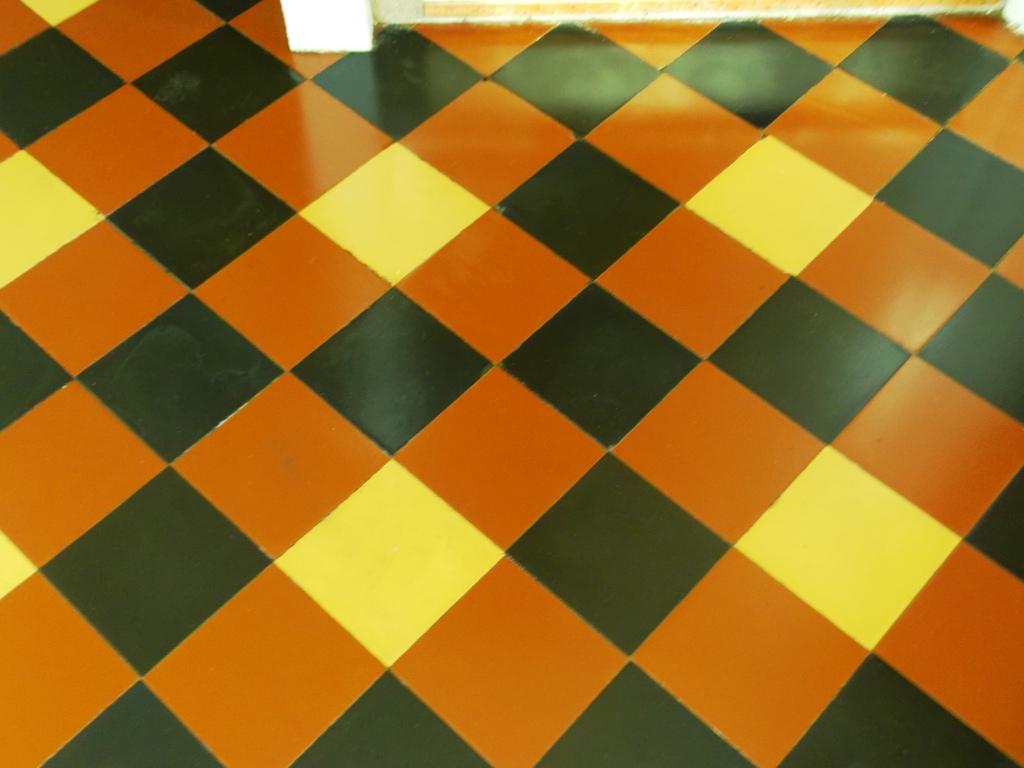 Victorian floor tile restoration