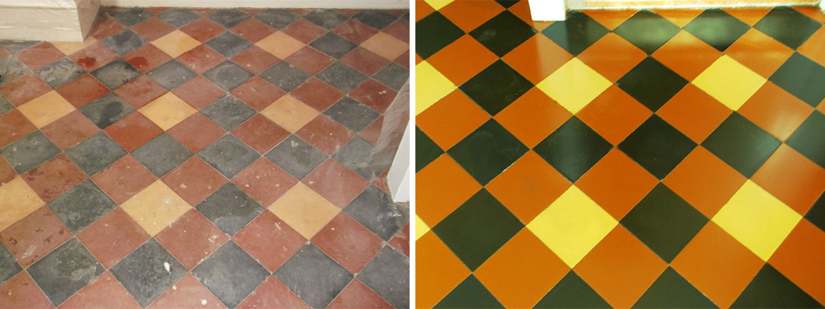 Victorian Quarry Tiled Floor Restoration