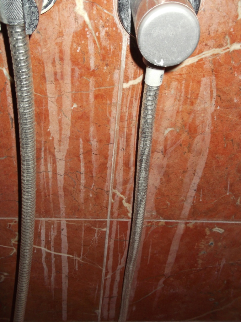 Marble Shower Cubicle Before Cleaning