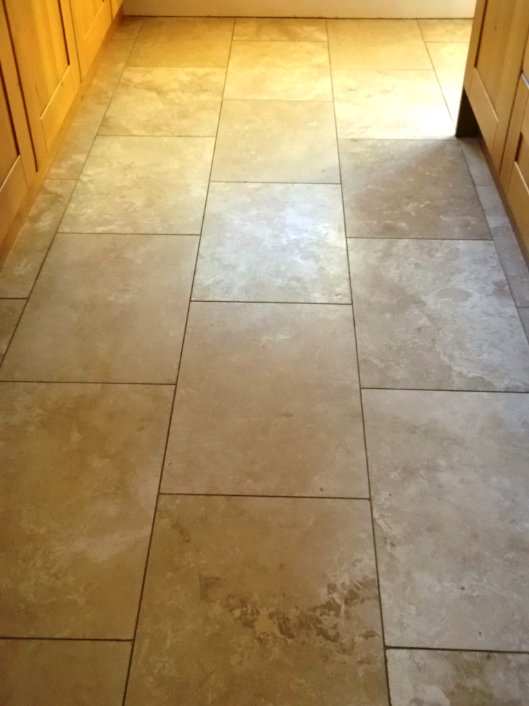 Restoring The Shine On A Travertine Floor Tiles In Haughley Suffolk Tile Doctor