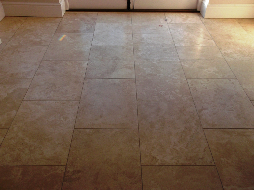 Travertine Tiled Floor Before