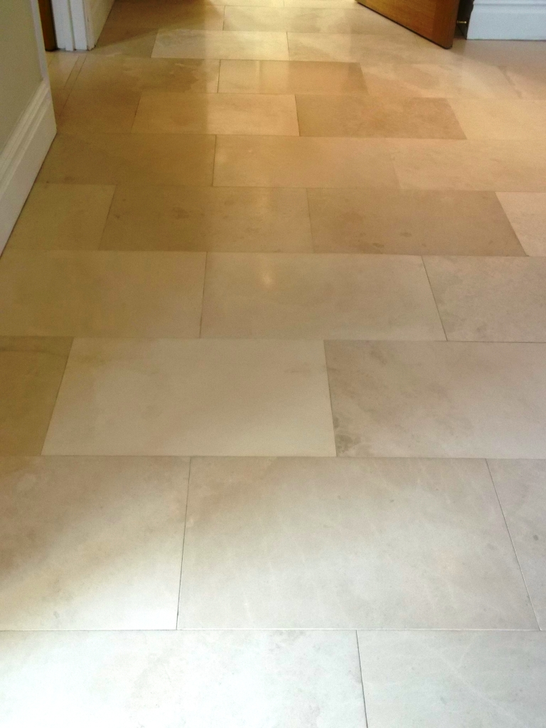 And Sealing A Limestone Tiled Floor In Newmarket Suffolk Tile Doctor