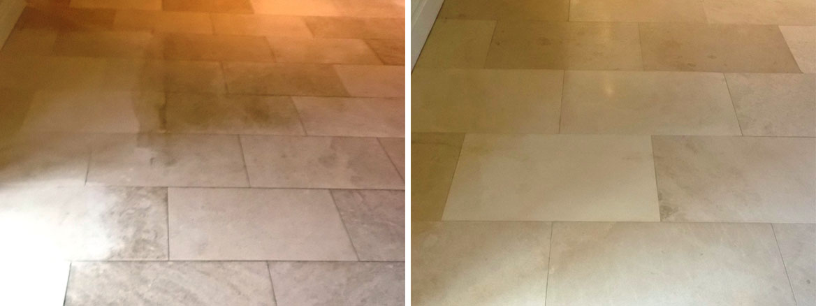 Cleaning and Sealing a Limestone Tiled Floor in Newmarket