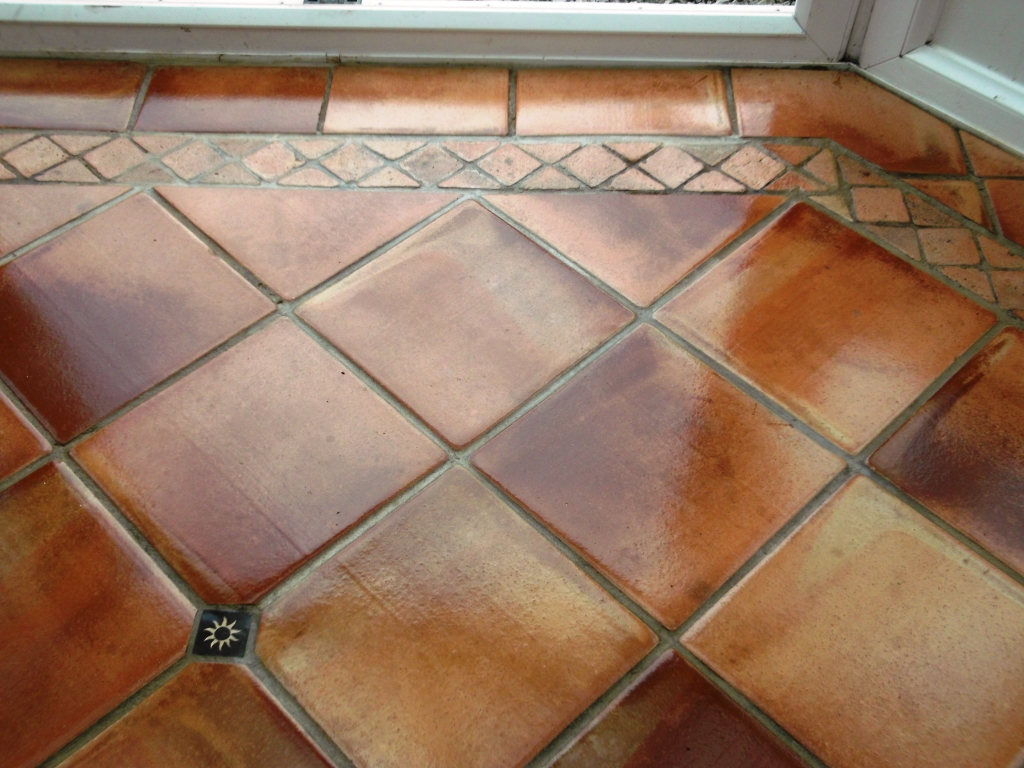 Terracotta Tiled Floor Maintained In Cringleford Norwich