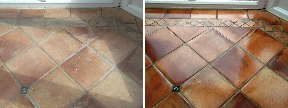 Terracotta Tiled Floor Maintained in Cringleford, Norwich
