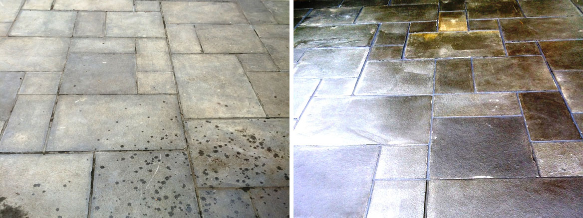 Restoring a Poorly Sealed Limestone Patio in Ipswich, Suffolk
