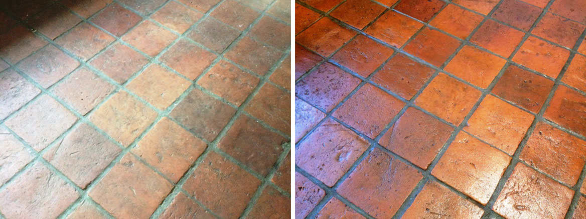 Cleaning and Sealing a Pamment Tiled Floor in Ipswich