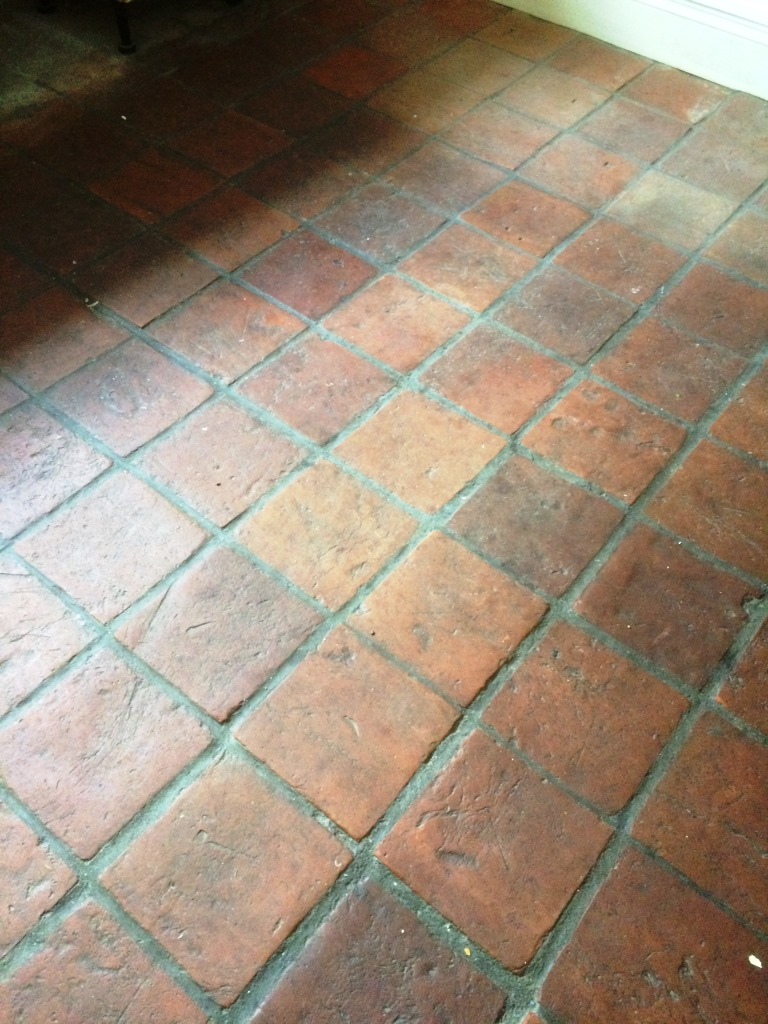 Pamment Tiled floor Ipswich Before Cleaning