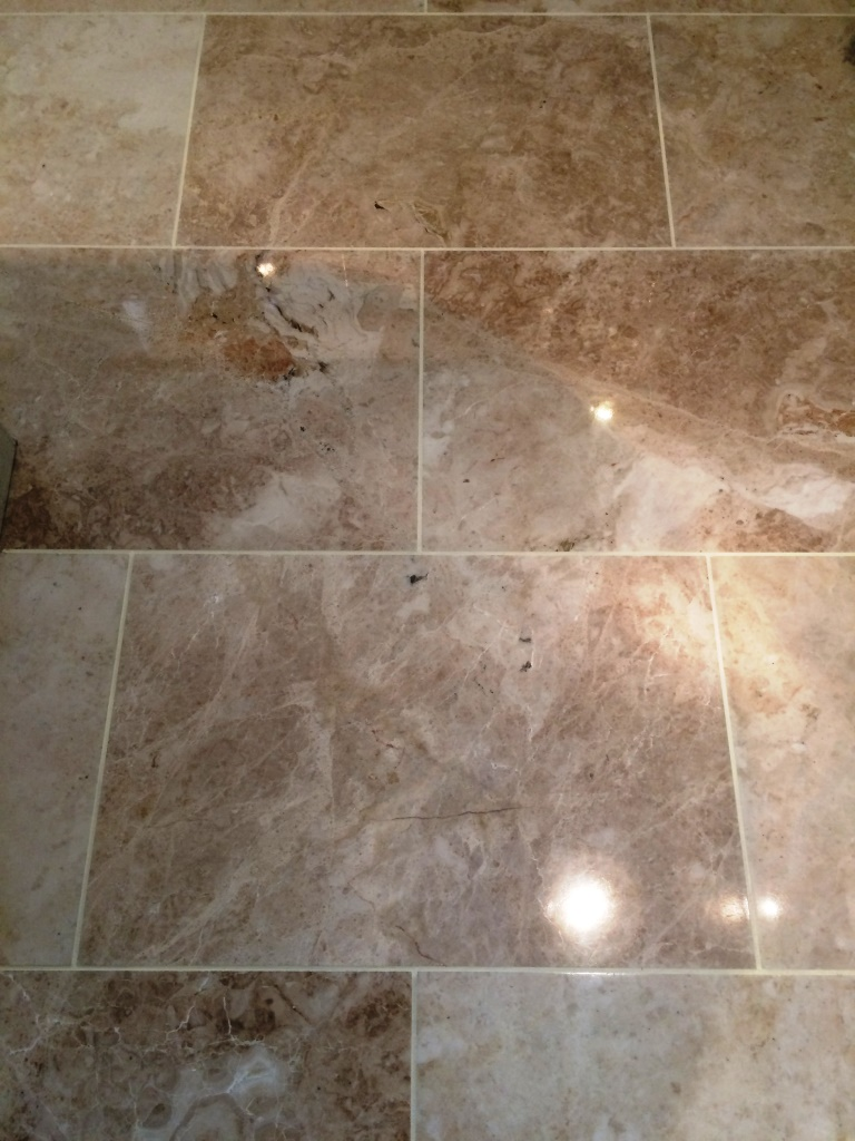Polished Marble Floor Elmswell After Cleaning