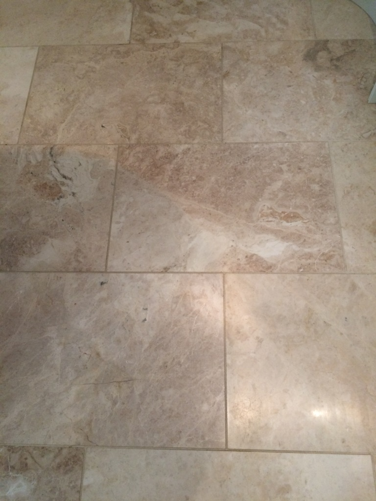 Polished Marble Floor Elmswell Before Cleaning