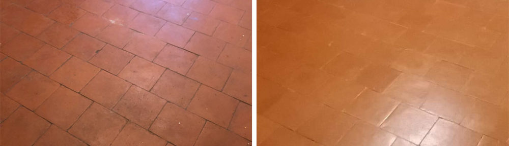Restorative Clean of an Old Quarry Floor in a Levington Gamekeepers Cottage