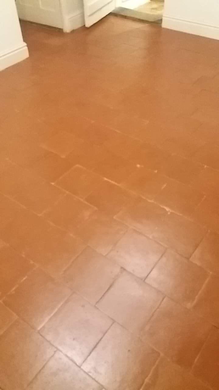 Quarry Tiled Floor Gamekeepers Cottage After Cleaning Levington