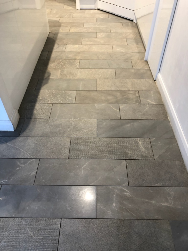 Porcelain Tile Grout Before Renovation Ipswich