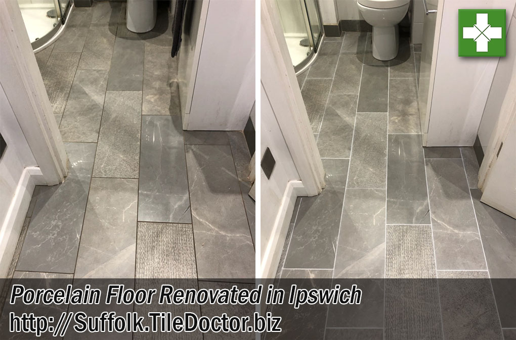 Renovating Porcelain Tile with Stained Grout in Ipswich