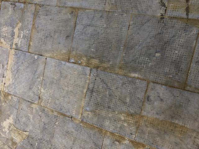 Marble Floor Before Renovation Palm Court Harvest House Felixstowe