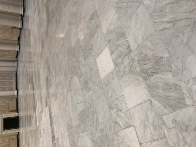 Marble Floor During Burnishing 1500-grit Palm Court Harvest House Felixstowe