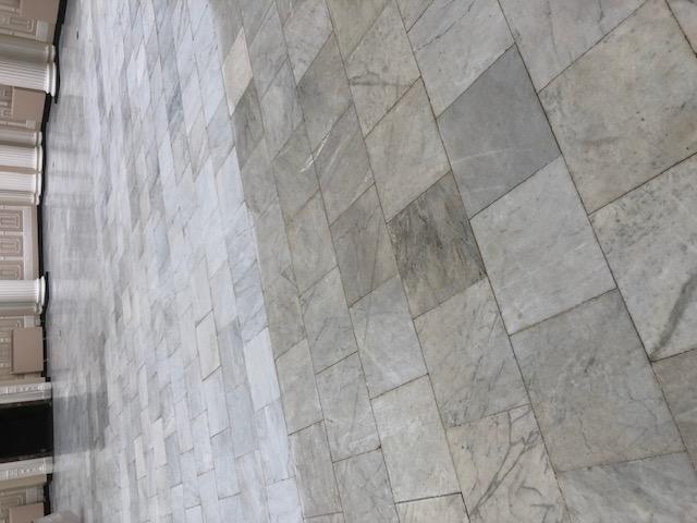 Marble Floor During Burnishing 800-grit Palm Court Harvest House Felixstowe
