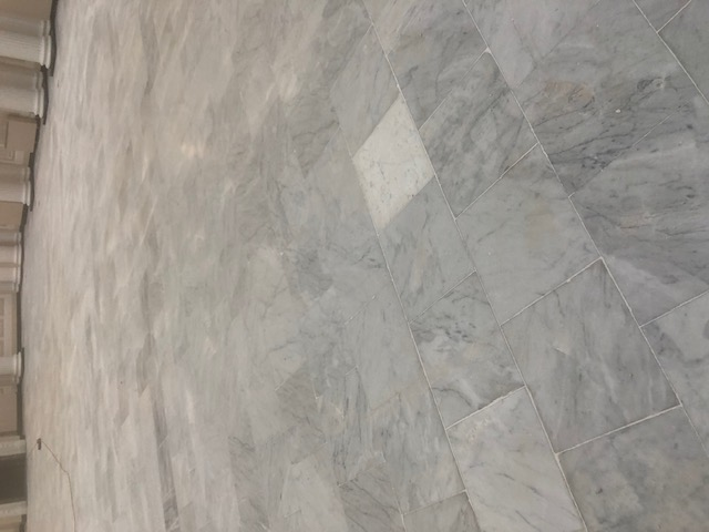 Marble Floor During Regrouting Palm Court Harvest House Felixstowe
