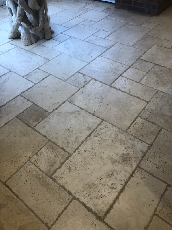Travertine Floor After Cleaning Great Green Thurston