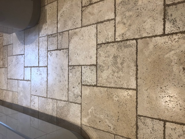 Travertine Floor Before Cleaning Great Green Thurston